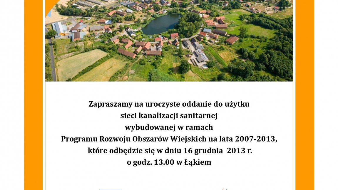 Kolejna miejscowość skanalizowana