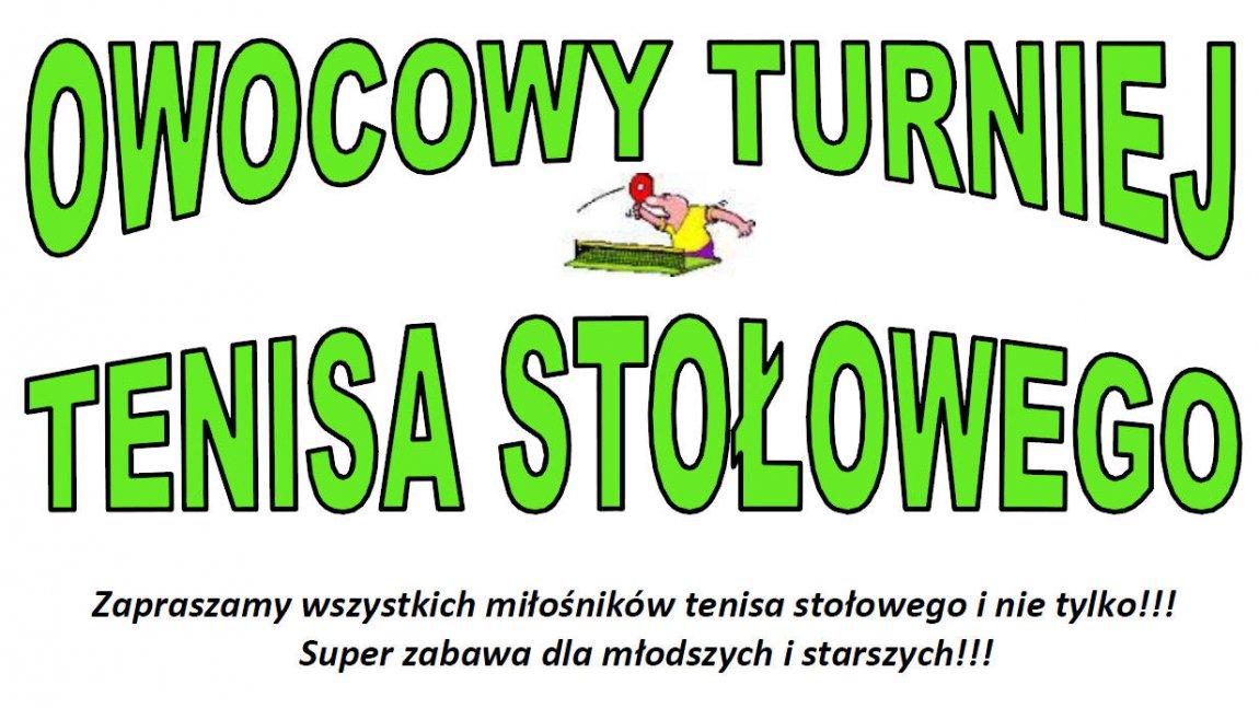 Owocowy turniej tenisa stołowego - Radoszyn 05.04.2014r.