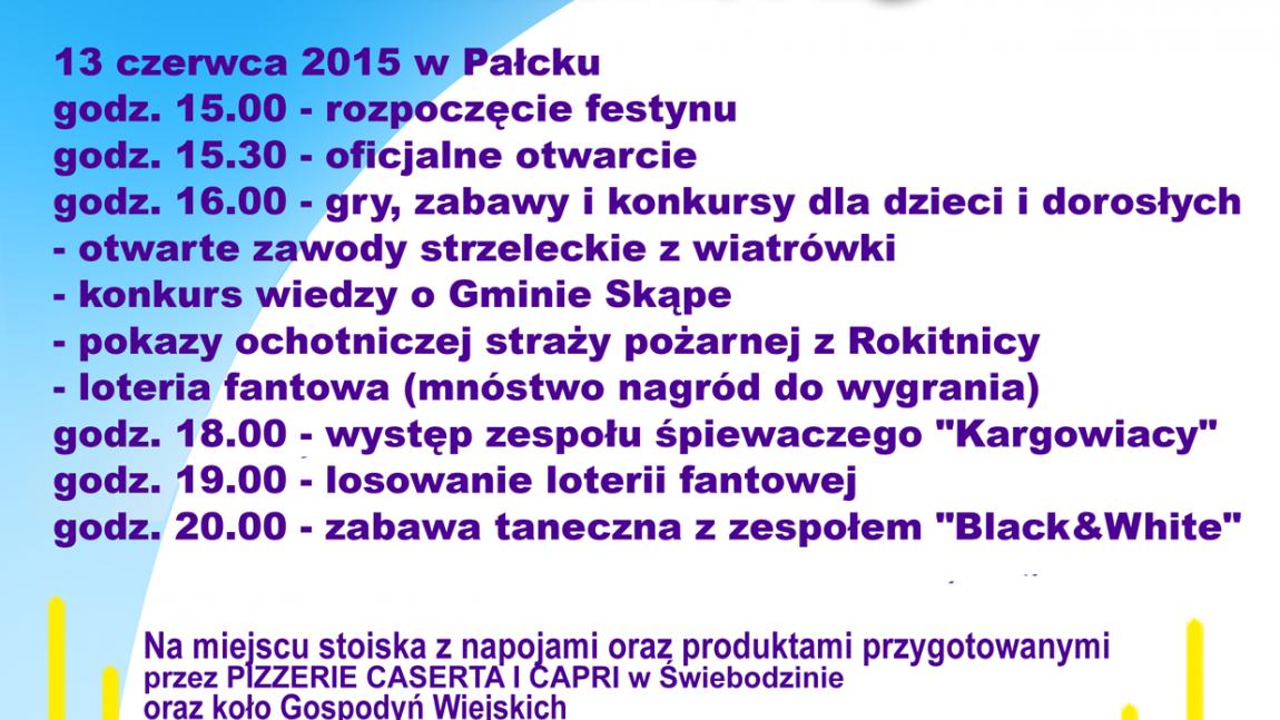 Festyn rodzinny w Pałcku