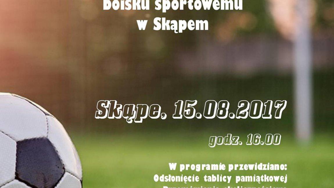 Uroczystość nadania imienia boisku sportowemu w Skąpem