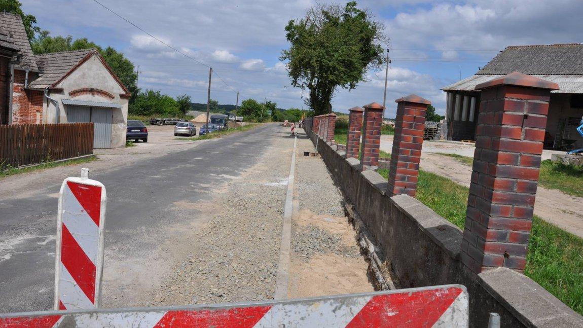 Budowa chodnika zakończona