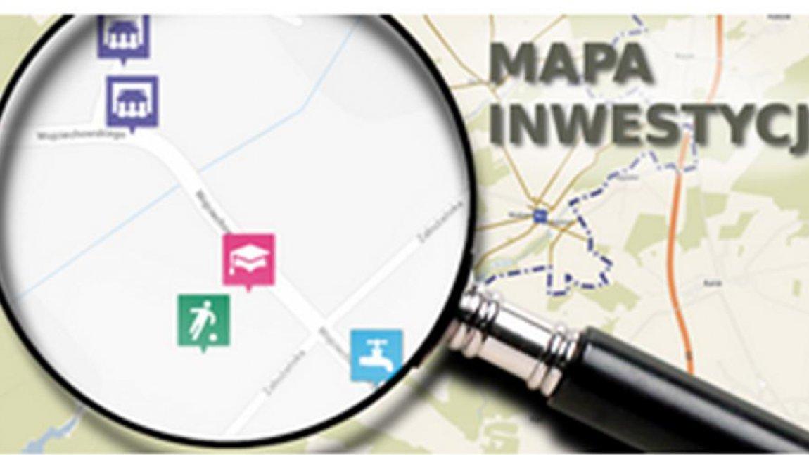 Mapa inwestycji Gminy Skąpe