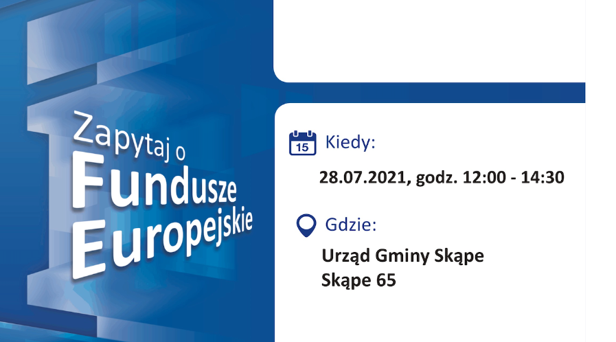 Mobilny Punkt Informacyjny w Skąpem – 28.07.2021 r.